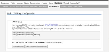 Multi URI Plug-in Admin Interface